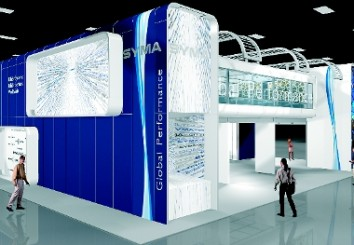 Syma impresses visitors at EuroShop 2014 by creating an individual look with a system. (Photo: Syma)