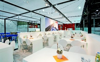 Best known as an exhibition systems manufacturer, Modul revealed new aspects of the company. (Photo: Modul)
