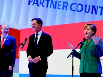 Hannover Messe 2014: Angela Merkel and Dutch Prime Minister Mark Rutte. (Photo: Deutsche Messe)