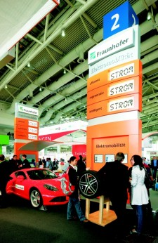 At Hannover Messe Fraunhofer has focused on e-mobility in recent years. (Photo: Fraunhofer)