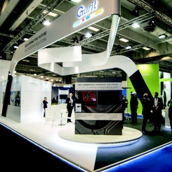 The Gurit booth looked like an individual design down to the smallest detail, showcasing the possibilities of the Bematrix system. (Photo: Bematrix)
