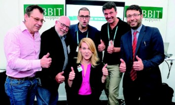 Look of a winner: The first Tech Start-up Pitch Competition was won by the Canadian software company InitLive last year. (Photo: Imex)