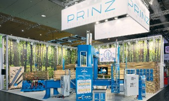 Prinz at Ligna 2017 in Hanover: Wood played a central role as the source material and final product. (Photo: MDS)