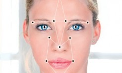 How is facial recognition technology used for admission control at trade fairs and events?