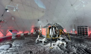 Lunar landscape for Vodafone: real photos designed to cover large spaces. (Photo: Fotoboden / visuals united)