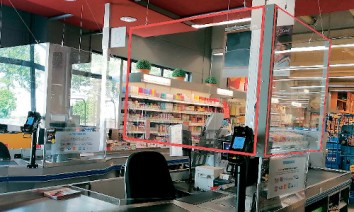 Applications range from cash registers at supermarkets or petrol stations through open-plan offices to reception areas in doctors' surgeries. (Photo: Exolon)
