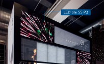 LED video walls integrated in Aluvision's modular frame system